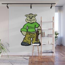 Gangsta dog Wall Mural