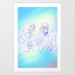 Friends & Beers & Blunts Art Print