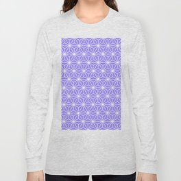 Cold Lilac Geometric Flowers and Florals Isosceles Triangle Long Sleeve T-shirt
