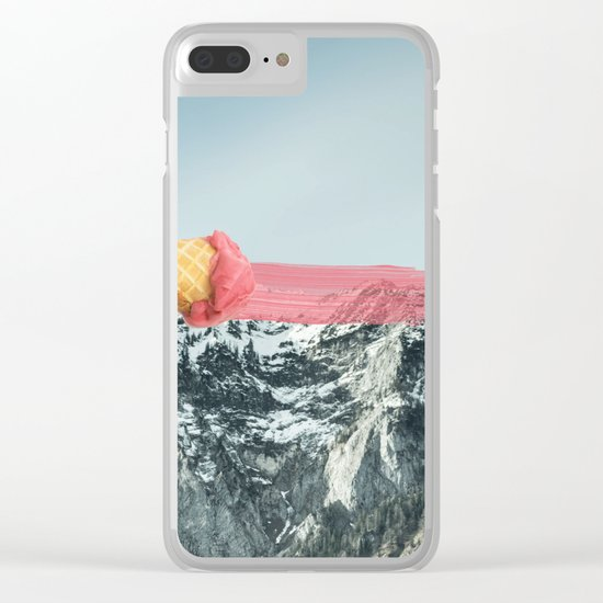 On the top Clear iPhone Case