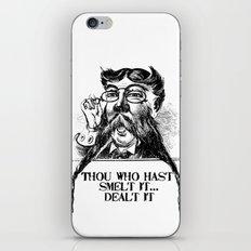 Vintage Thou who hast smelt it, dealt it  iPhone & iPod Skin