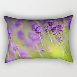 Textured background of lavender flowers Rectangular Pillow