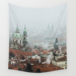 Cold Mornings over Prague Wall Tapestry