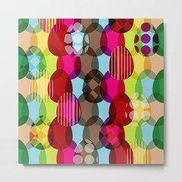 Eggs pattern Metal Print
