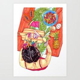 Fruit salad - Frida collection - Art Print