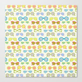Summer sunglasses Canvas Print