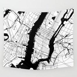 New York City Minimal Map Wall Tapestry
