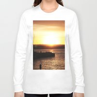 san diego Long Sleeve T-shirts featuring San Diego Sunset by Tdrisk46