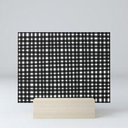 Black Gingham Mini Art Print
