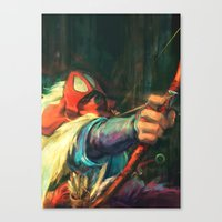 young avengers Canvas Prints featuring The Young Man from the East by Alice X. Zhang