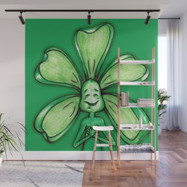 """Green"" Color Chakra Flowerkid Wall Mural"