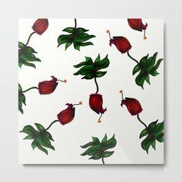 Maroon Ceritas Bloom (White Background) Metal Print