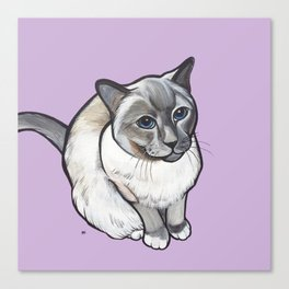 Mulder the Siamese Cat Canvas Print