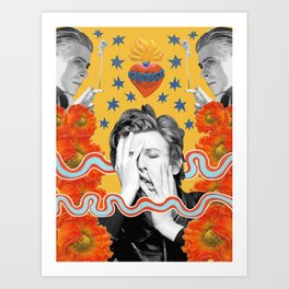 bowie by spunkynelson Art Print