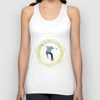 skateboard Tank Tops featuring Skateboard 3 by Aquamarine Studio