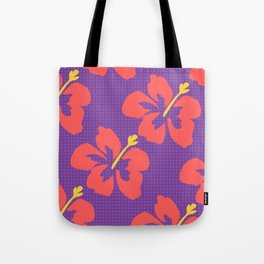 Flowers illustrated (purple background) Tote Bag