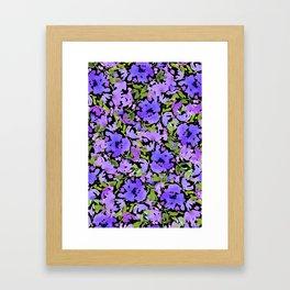 Periwinkle Bouquet Framed Art Print