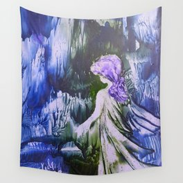 Lost Girl 2 - Blue Forest Wall Tapestry