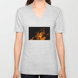Fire in the dark Unisex V-Neck