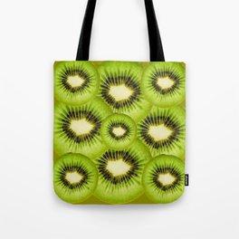 TROPICAL GREEN KIWI SLICED FRUIT MODERN ART Tote Bag