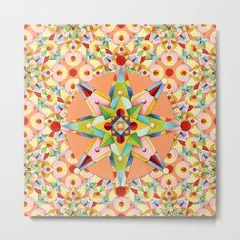 Starburst Confetti Metal Print