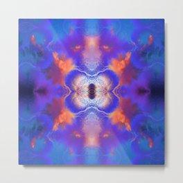 Cloud and Lightening Symmetry Metal Print