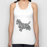 terrier Tank Tops featuring Terrier by PawPrints