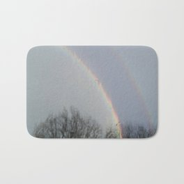 tow rainbows out there Bath Mat