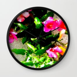 Floral Up Wall Clock