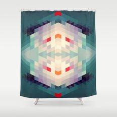 GeoAqua Shower Curtain