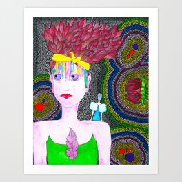 She Started To Know Herself Art Print
