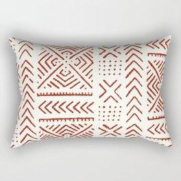 Line Mud Cloth // Ivory & Burgundy Rectangular Pillow