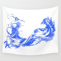 final fantasy Wall Tapestries featuring FINAL FANTASY X  by DrakenStuff+