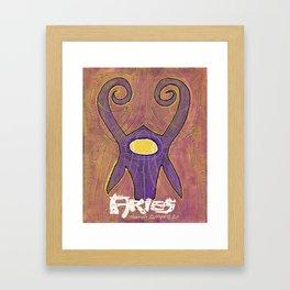 Aries the Ram Poster Framed Art Print