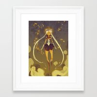 sailormoon Framed Art Prints featuring SailorMoon by Samanthadoodles
