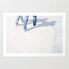 Walking together Art Print