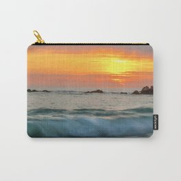 Golden sunset with turquoise waters Carry-All Pouch