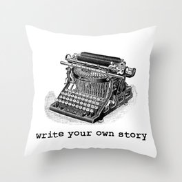 Write Your Own Story Throw Pillow