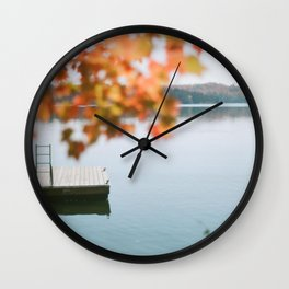 lake side view  Wall Clock