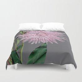 pale pink aster botanical Duvet Cover