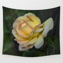 Pretty yellow rose Wall Tapestry