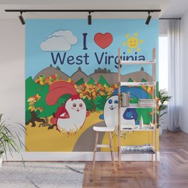 Ernest and Coraline | I love West Virginia Wall Mural