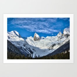 Bugaboo Spires on a winter's day Art Print