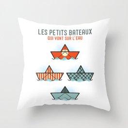 Les Petits Bateaux - Nautical Flags Edition Throw Pillow
