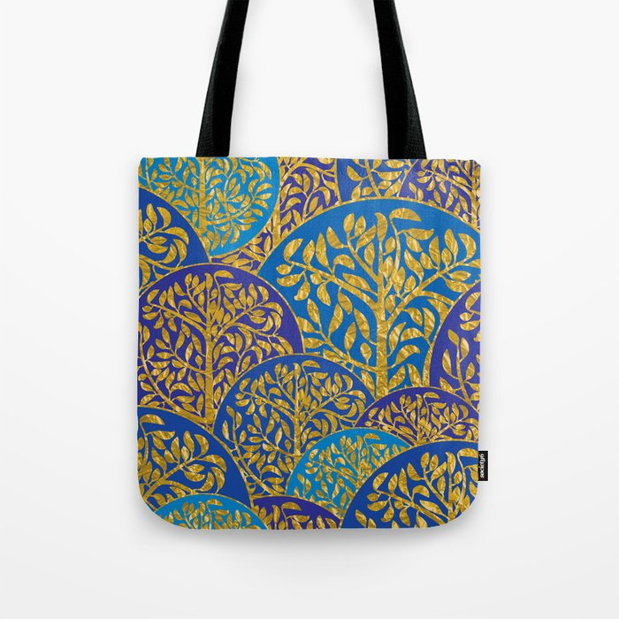 Golden trees Tote Bag