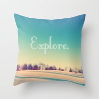 explore Throw Pillows featuring Explore by Josrick