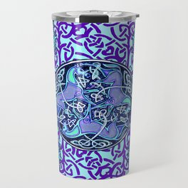7 Blue Celtic Horses Travel Mug