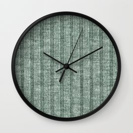 Moss Green Jersey Knit Pattern Wall Clock