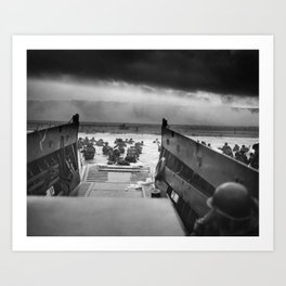 Omaha Beach Landing -- D-Day Normandy Invasion Art Print