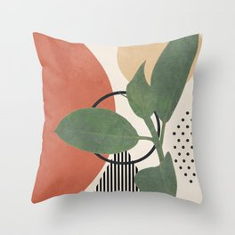Nature Geometry III Throw Pillow